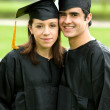Royalty-Free Stock Photo: Graduation couple of students