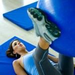 Gym woman doing pilates — Stock Photo #7642850