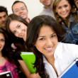 Friends or students smiling — Stock Photo #7642856