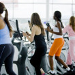 Women at the gym — Stock fotografie