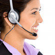 Stock Photo: Business helpdesk operator