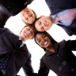 Business teamwork - isolated — Stock Photo
