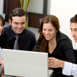 Business team on a laptop — Stock Photo #7642991