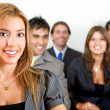 Business woman leading a team — Stock Photo #7643044