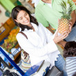Stock Photo: Couple at supermarket
