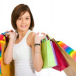 Stock Photo: Casual girl with shopping bags