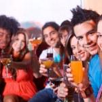 Friends in a bar — Stock Photo