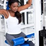 mujer haciendo ejercicio — Foto de Stock   #7643133