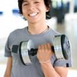 Man lifting weights - Foto Stock