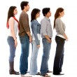 Group of in a queue - Stock Photo