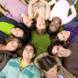 Stock Photo: Group of happy friends