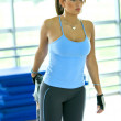 Gym wom- stretch — Stock Photo #7643304