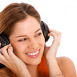 Woman listening to music — Stock Photo #7643322