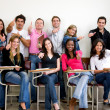 Stock Photo: Class of students