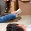 Couple moving homes — Stock Photo #7643384