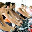 Spinning at the gym — Stock Photo #7643464