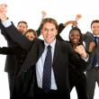 Stock Photo: Isolated business team success