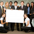 Business team - board — Stock Photo