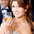 Elegant party woman — Stock Photo