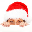 Royalty-Free Stock Photo: Christmas santa billboard