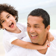 Father and son smiling — Stock Photo #7643639