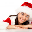 Stock Photo: Christmas girl portrait