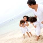 Family having fun - beach — Stock Photo