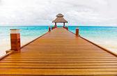 Beach pier hut — Stock Photo