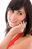 Mujer casual en el teléfono — Foto de Stock