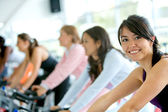 Gym women exercising — Stock Photo