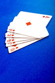 Cards - royal flush — Stock Photo