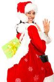 Weihnachten mädchen — Stockfoto