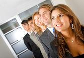 деловая женщина и ее команда — Стоковое фото