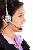 Business helpdesk operator — Stock Photo