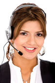 Business customer support operator — Stock Photo
