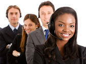 Business helpdesk operators — Stock Photo
