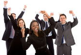 Business team full of success — Stock Photo