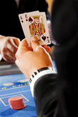 Blackjack cards — Stock Photo
