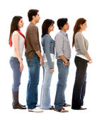 Group of in a queue — Stock Photo