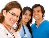 Doctor and nurses — Stock Photo