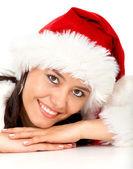 Vánoční dívka portrét — Stock fotografie