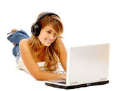Online music downloads — Stock Photo