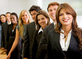 Business woman and her team — Photo
