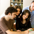 Foto de Stock  : Library students
