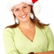 Female santa portrait — Stockfoto