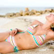 Bikini girl at the beach — Stock Photo #7653920