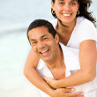 Stock Photo: Happy beach couple