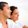 Pensive happy couple — Stock Photo #7653937