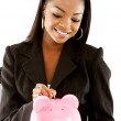 Piggy bank savings - Foto Stock