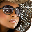 Fashion girl portrait - sunglasses — Stock Photo